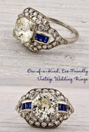 platinum engagement ring with round center and sapphire