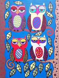 Items Similar To Art Print - 590 best only owls images on pinterest mexican mexican folk