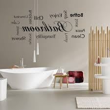 astounding bathroom with quotes wall decals also iron towel racks bathroom interesting with quotes wall decal combined white standing tub and hanging tube lamp