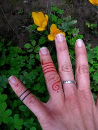 finger tattoos side a red snake and little red dots and l u2026 flickr