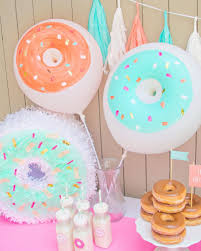 themes birthday donut party supplies also donut paper plates