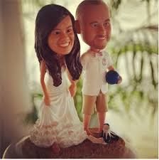cake toppers bobblehead creative wedding cake toppers we sandals wedding