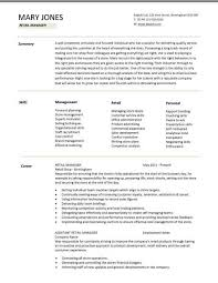 Retail Resumes Examples by Retail Manager Cv Template With Assistant Store Manager Resume