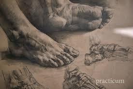 drawing feet muddy colors