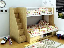 Trio Storage Three Sleeper Bunk Bed In Oak Single And Ft Small - Joseph bunk bed
