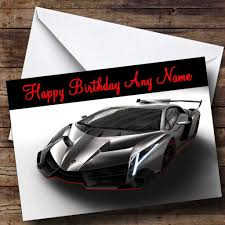 grey lamborghini veneno lamborghini veneno personalised birthday card the card zoo