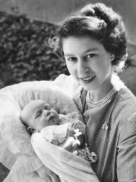 princess anne her royal highness the princess elizabeth holding her daughter