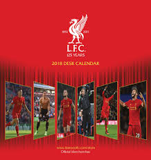 2018 easel desk calendar liverpool fc easel calendar 2018 calendar club uk