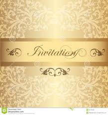 Yellow Wedding Invitation Cards Wedding Invitation Card In Luxury Vintage Style Royalty Free Stock