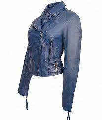 blue motorcycle jacket womens blue lambskin leather motorcycle slimfit jacket