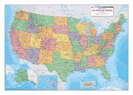 political us map political wall map of the us by equator maps
