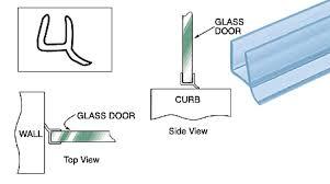 Shower Seals For Glass Doors Shower Door Wipes Seals Architectural Glass Mirror