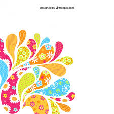 colorful arc drops background vector free download