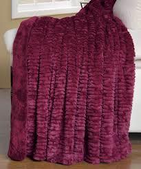 Leopard Print Faux Fur Throw Air Brushed Burgundy Colleen Faux Fur Throw Blanket Hst