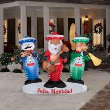 Outdoor Christmas Decorations With Music by Decoration Lawn Yard Inflatable Animated Lighted Mariachi Band