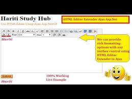 html online class html editor extender in ajax toolkit asp net c website