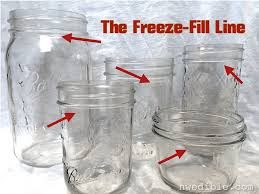 the freeze fill line how to freeze food in mason jars food