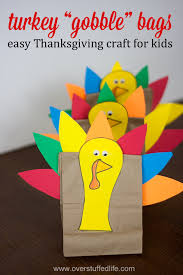 thanksgiving turkey treat bags easy craft for overstuffed