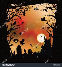 halloween creepy background vector halloween horror background stock vector 216563893