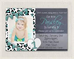 girls 1st birthday leopard print invitation printable download