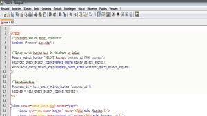 coderen van een php script