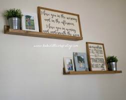 Wood Gallery Shelves by Ledge Etsy