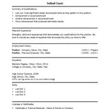 Resume Sample Substitute Teacher by Softball Coach Sample Resume Format Of Business Proposal Sample