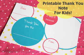 kids thank you cards craft whatever printable kids thank you notes