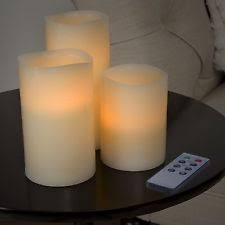 flameless candles with timer ebay