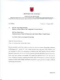 Letter Of Intent For Job Promotion by Albania Open Government Partnership