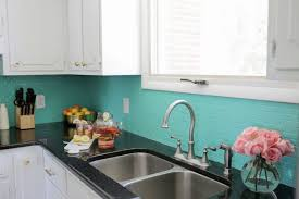 painting kitchen backsplash ideas kitchens green painted backsplash from a beautiful mess diy