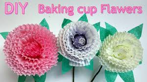 Diy Craft Diy Crafts How To Make Baking Cup Flowers Ana Diy Crafts Youtube