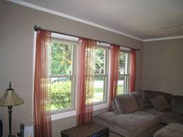 Curtains For Large Windows Inspiration Curtains For 3 Windows Beautiful 3 Window Curtain Ideas 25 Best