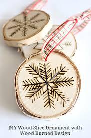 diy birch wood slice ornament with wood burned design dans le