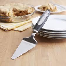 cuisinart elements cake pie server black stainless steel