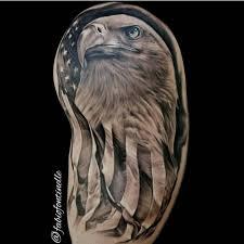 Patriotic Flag Tattoos Bald Eagle American Flag Tattoo Images For Tatouage