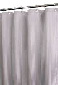 Grey And White Striped Shower Curtain Amazon Com Park B Smith Satin Stripe Shower Curtain With Hooks
