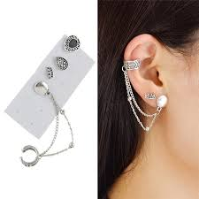 ear clasp ear cuffs gold sliver and stud ear cuff earrings cheap online