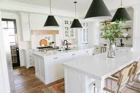 kitchens with two islands 36 modern farmhouse kitchens that fuse two styles perfectly