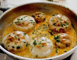 leichte küche für abends illes leicht gefüllte chignonköpfe auf ofenkartoffeln rezept