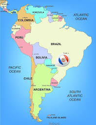 South America Map Countries Paraguay Map Blank Political Paraguay Map With Cities