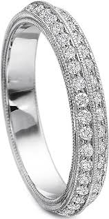 precision set rings precision set row diamond wedding band 1068
