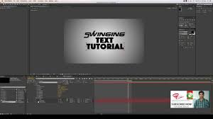 tutorial kinetic typography after effects kinetic typography swinging x rotation after effect tutorial youtube