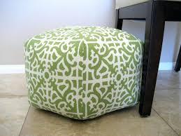 ottomans lime green pouf ottoman square white floral pattern