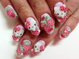 amazing 3d nail art designs 3d nail art hello kitty nails and