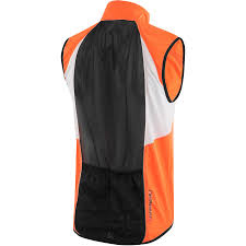 mens hi vis cycling jacket louis garneau nova cycling vest in hi vis safety orange cento cycling