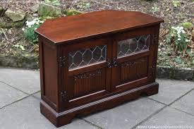 antique corner tv cabinet old charm tudor oak corner tv cabinet cupboard stand table for sale