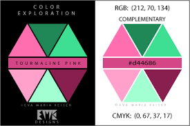 complementary of pink eva maria keiser designs explore color tourmaline pink