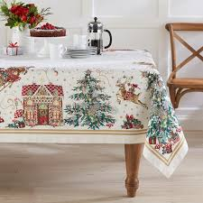 christmas tablecloth twas the before christmas tablecloth williams sonoma