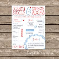 printable wedding programs vintage flyer wedding program diy printable lovely